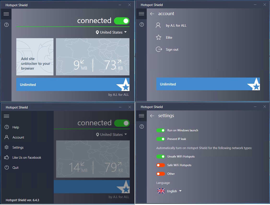 Hotspot Shield VPN Elite windows