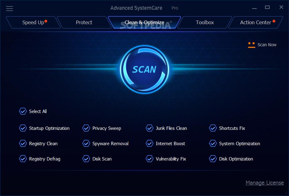 Advanced SystemCare Pro windows