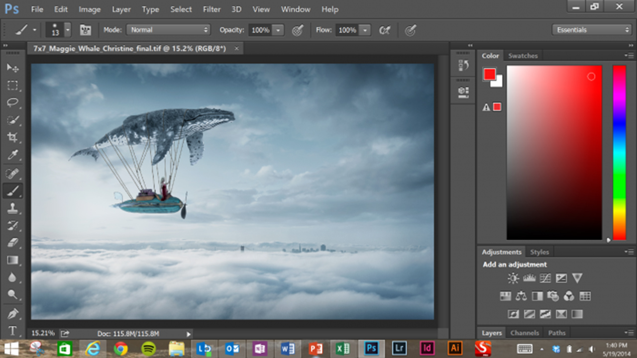 Adobe Photoshop CC windows