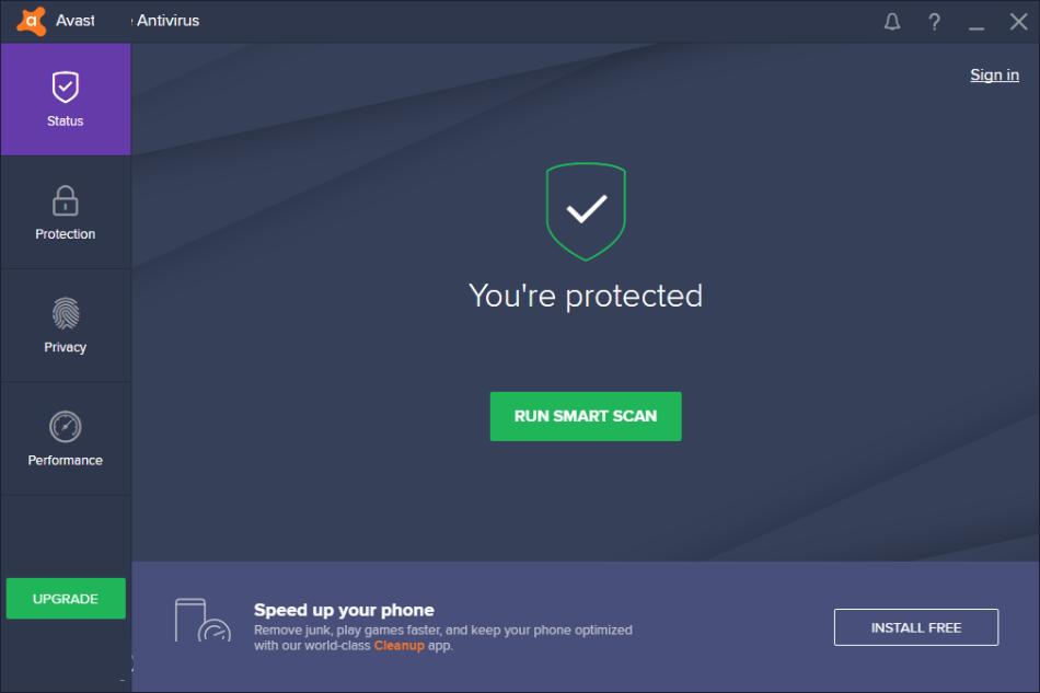 Avast Antivirus windows