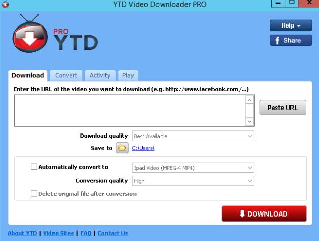 YTD Video Downloader PRO windows