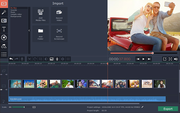 Movavi Video Editor windows
