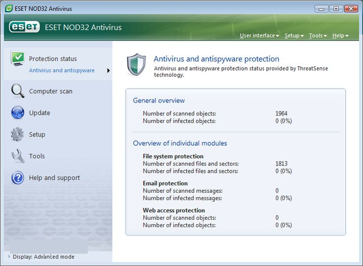 ESET NOD32 AntiVirus windows