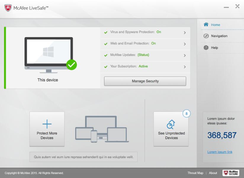 McAfee LiveSafe windows