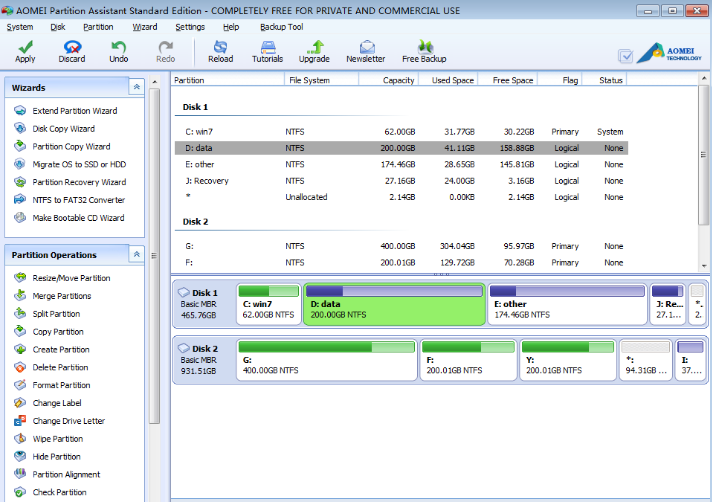 AOMEI Partition Assistant Standard Edition latest version