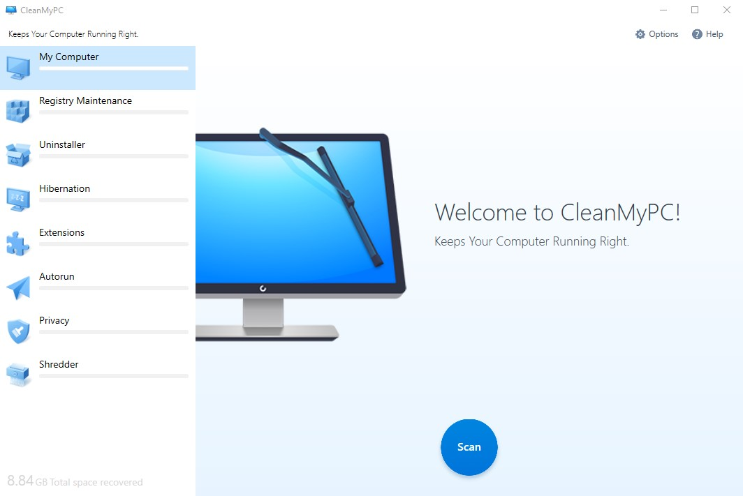 CleanMyPC windows
