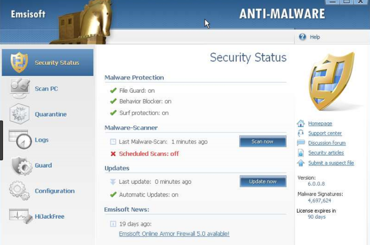 Emsisoft Anti-Malware latest version