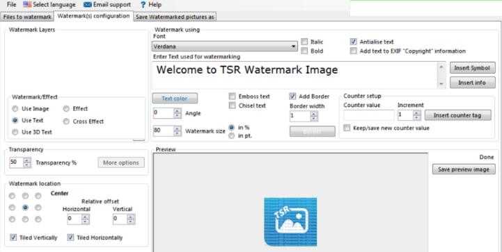 TSR Watermark Image Pro latest version