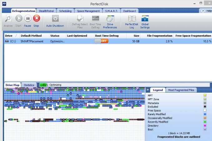 PerfectDisk Pro windows