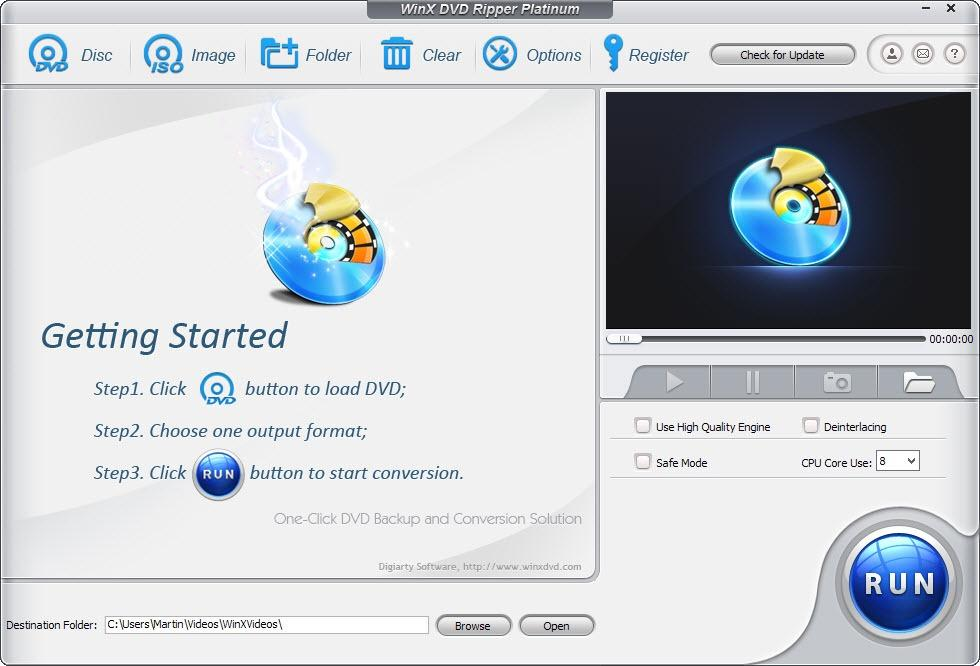 WinX DVD Ripper Platinum windows