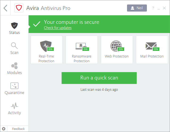 Avira Antivirus Pro latest version