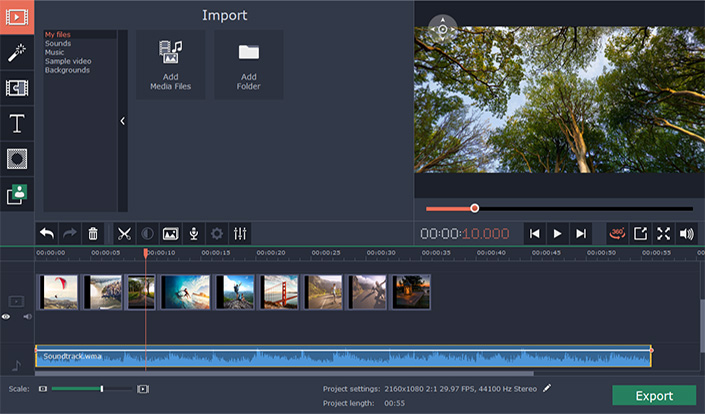Movavi 360 Video Editor windows