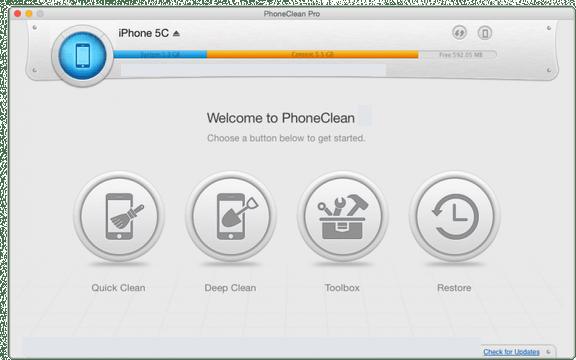 PhoneClean Pro latest version