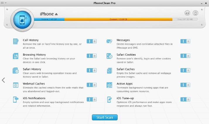 PhoneClean Pro windows