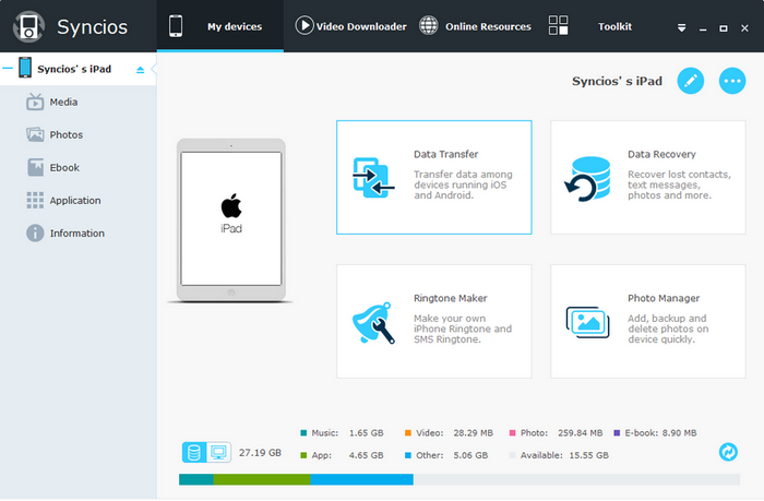 Syncios Pro latest version