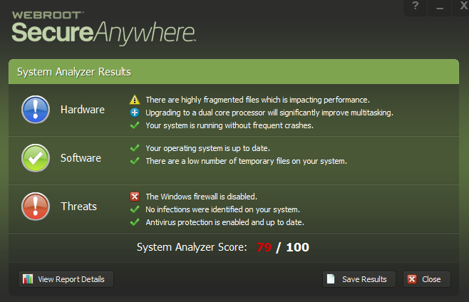 Webroot SecureAnywhere windows