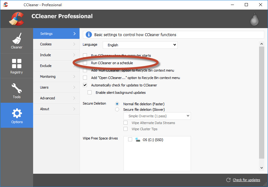 CCleaner Professional latest version