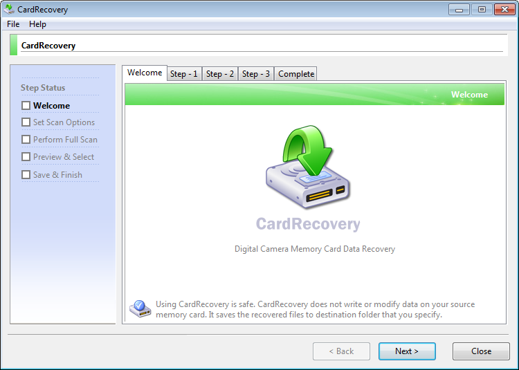 CardRecovery windows