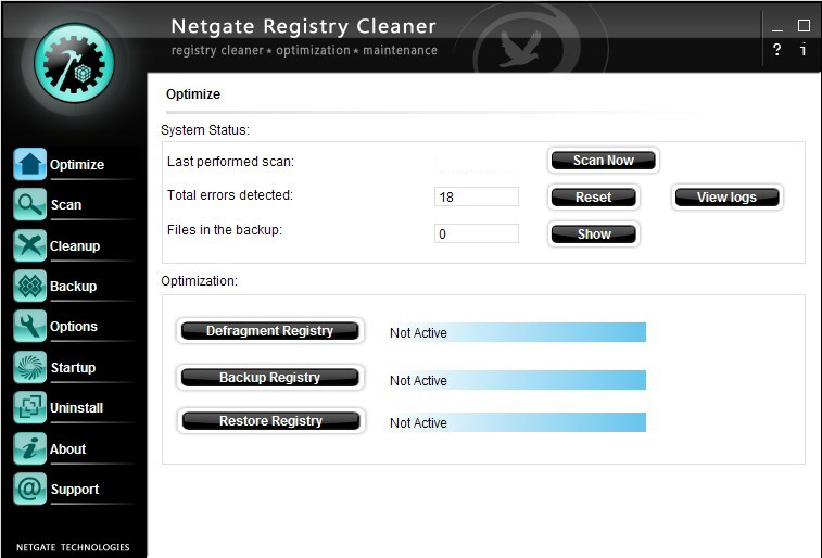 NETGATE Registry Cleaner windows