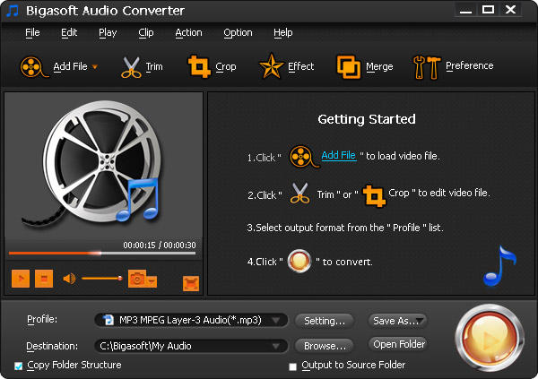 Bigasoft Audio Converter windows