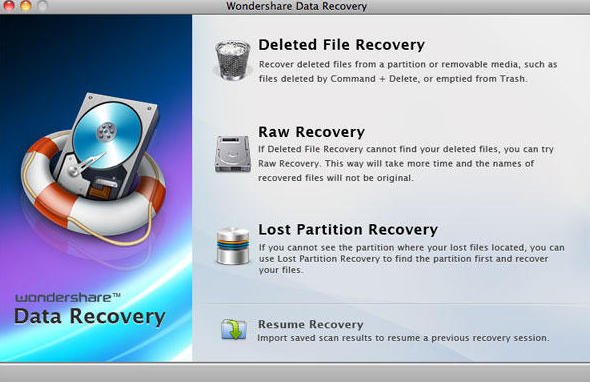 Wondershare Data Recovery windows