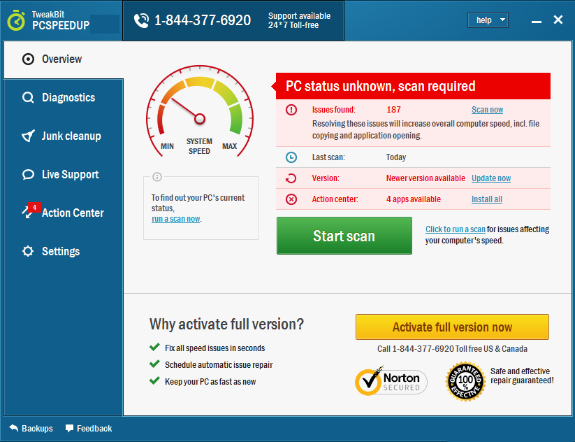 Tweakbit PCSpeedUp latest version
