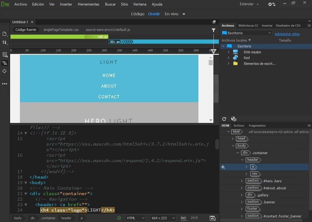Adobe Dreamweaver CC windows