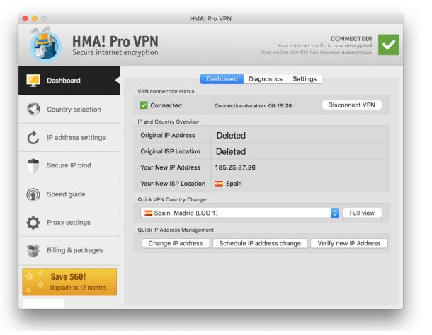 HMA Pro VPN latest version