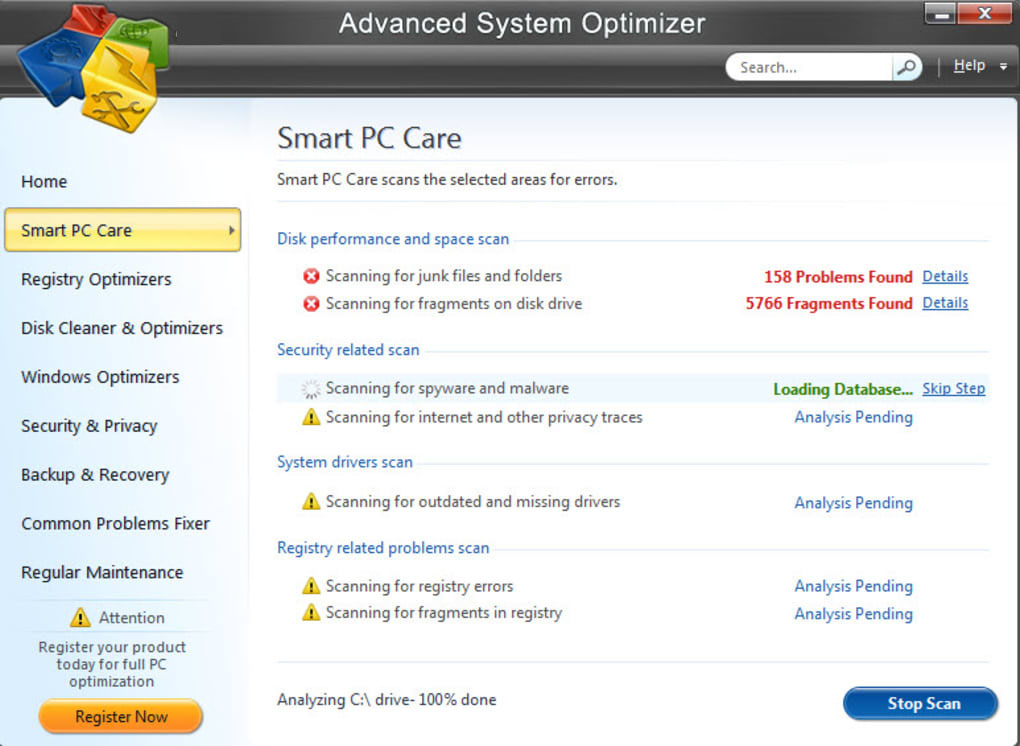 Advanced System Optimizer windows