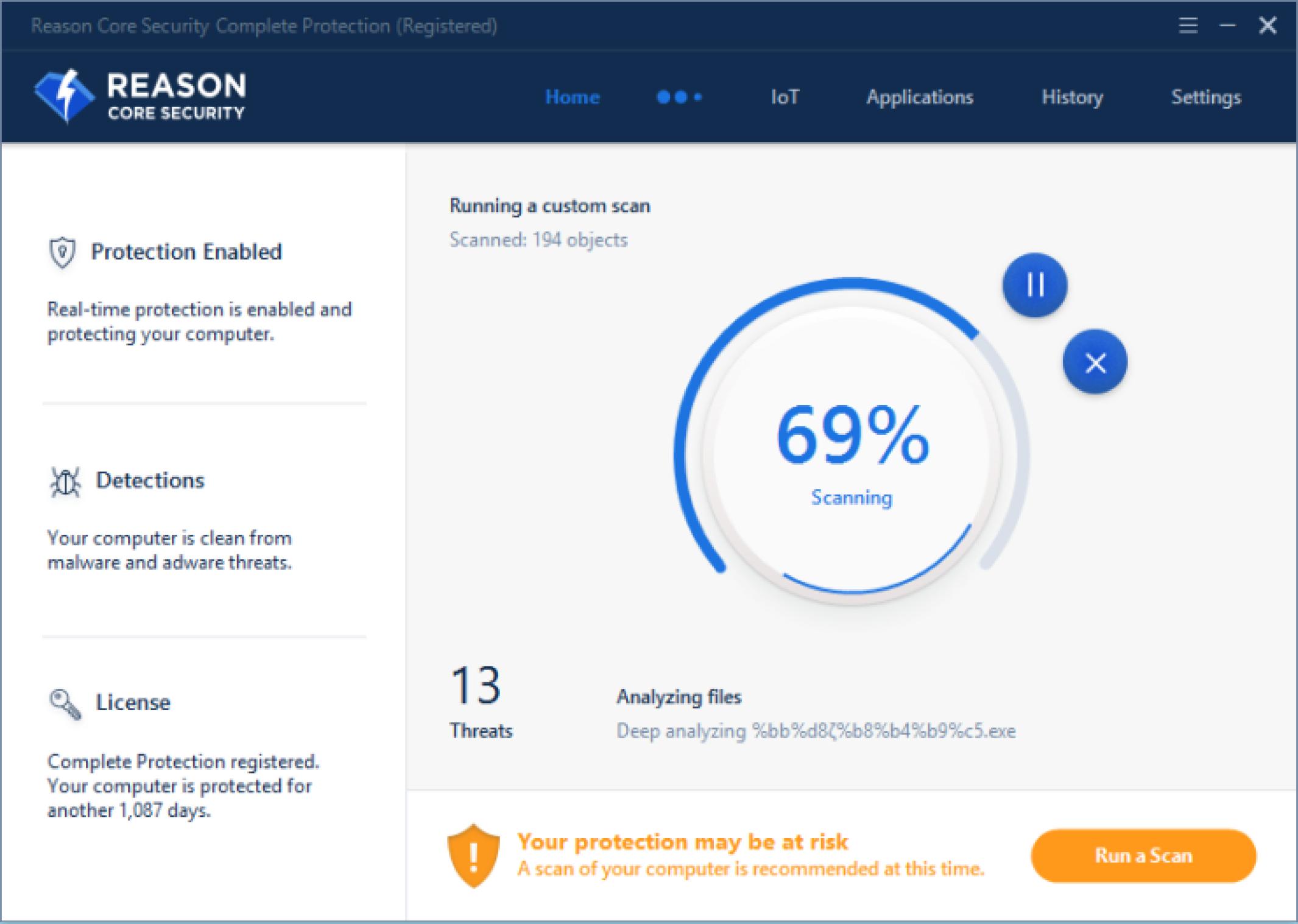 Reason Core Security windows