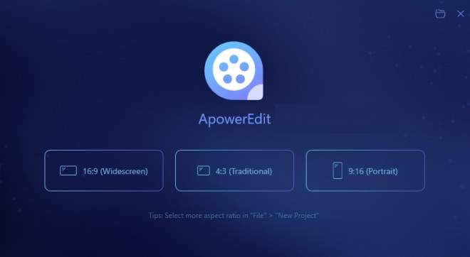 ApowerEdit windows