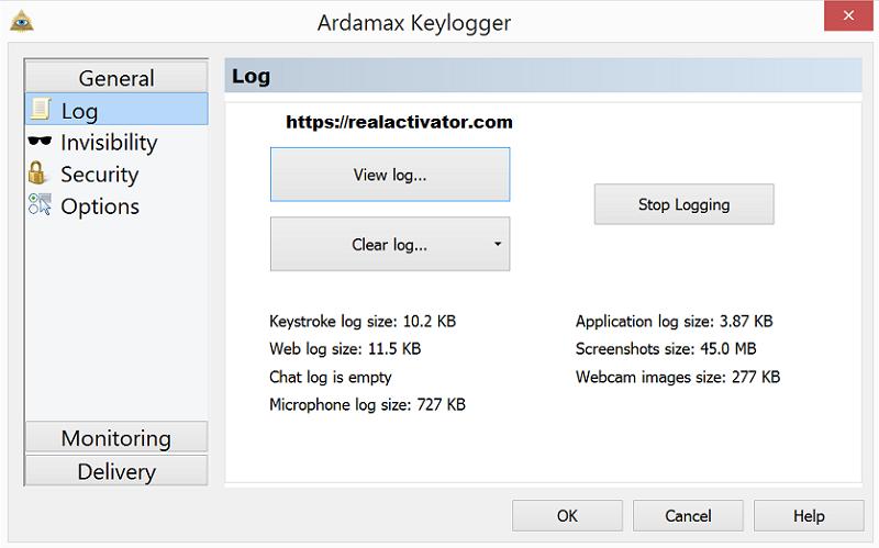 Ardamax Keylogger windows