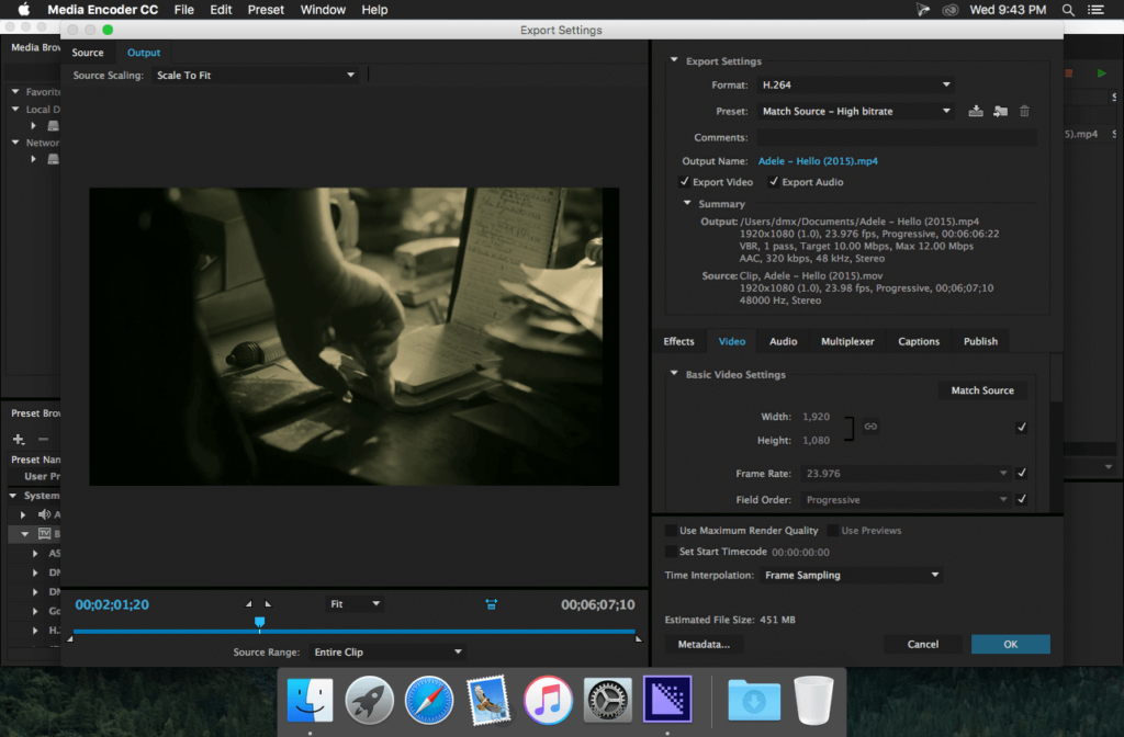 Adobe Media Encoder windows