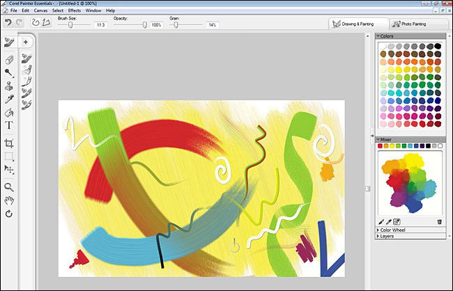 Corel Painter Essentials windows